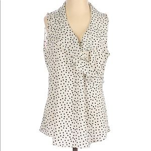 Ann Taylor Black and White Polka Dot Tank Blouse